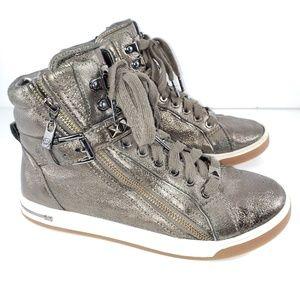 MICHAEL KORS   Metallic  Glam High Top Sneakers